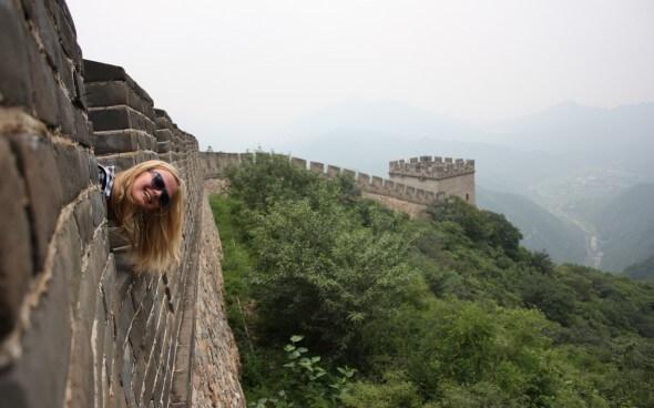 Hanna an der chinesischen Mauer