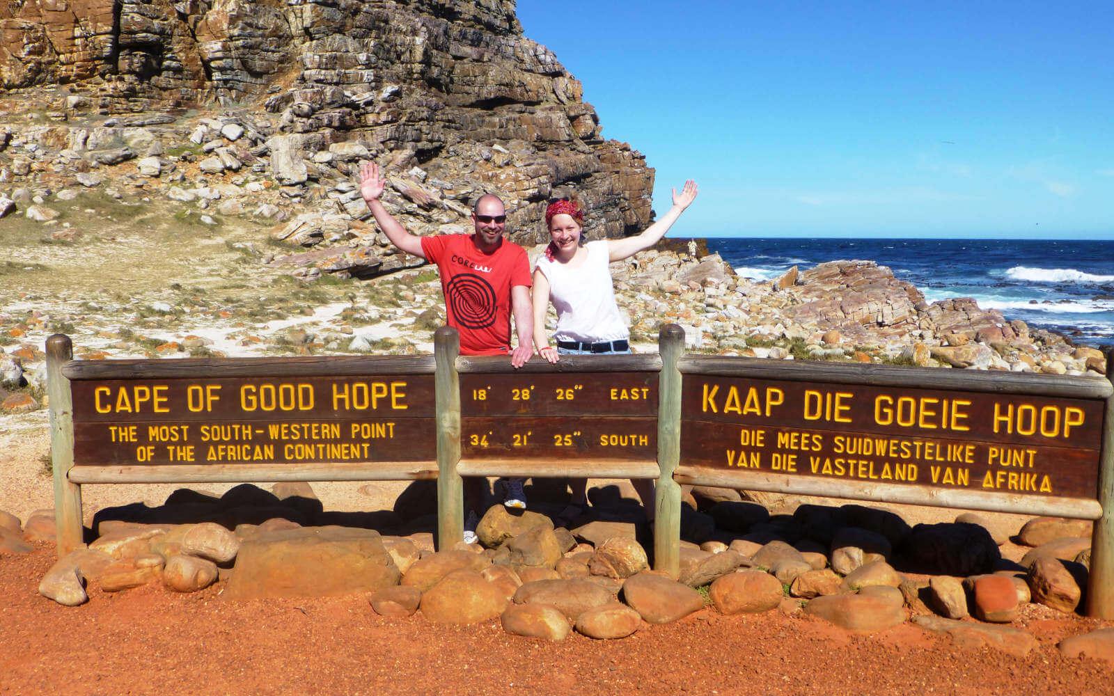 Julia und Sascha am Kap der guten Hoffnung