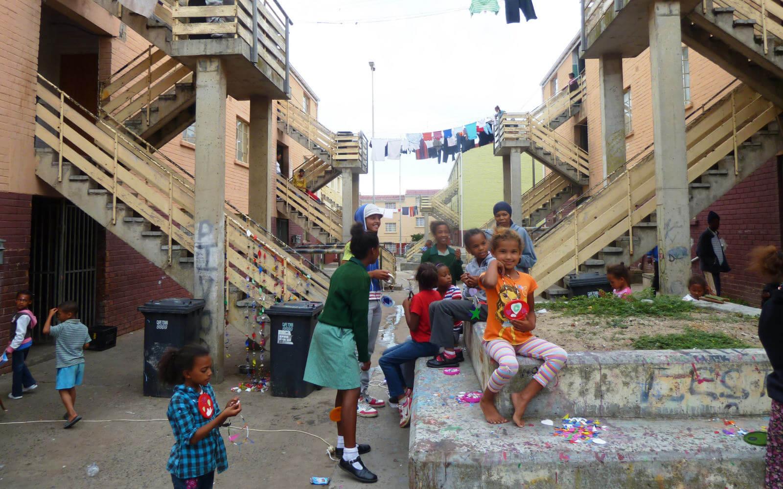 Blick in ein Township Projekt