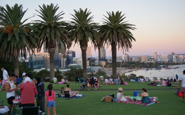 Australien: Ein Park in Perth