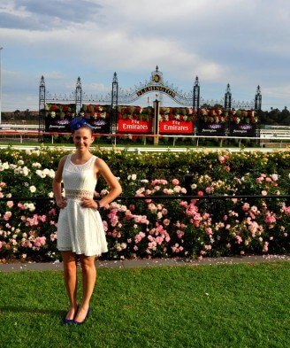 Melbourne Cup: Laura an der Rennbahn in Flemington