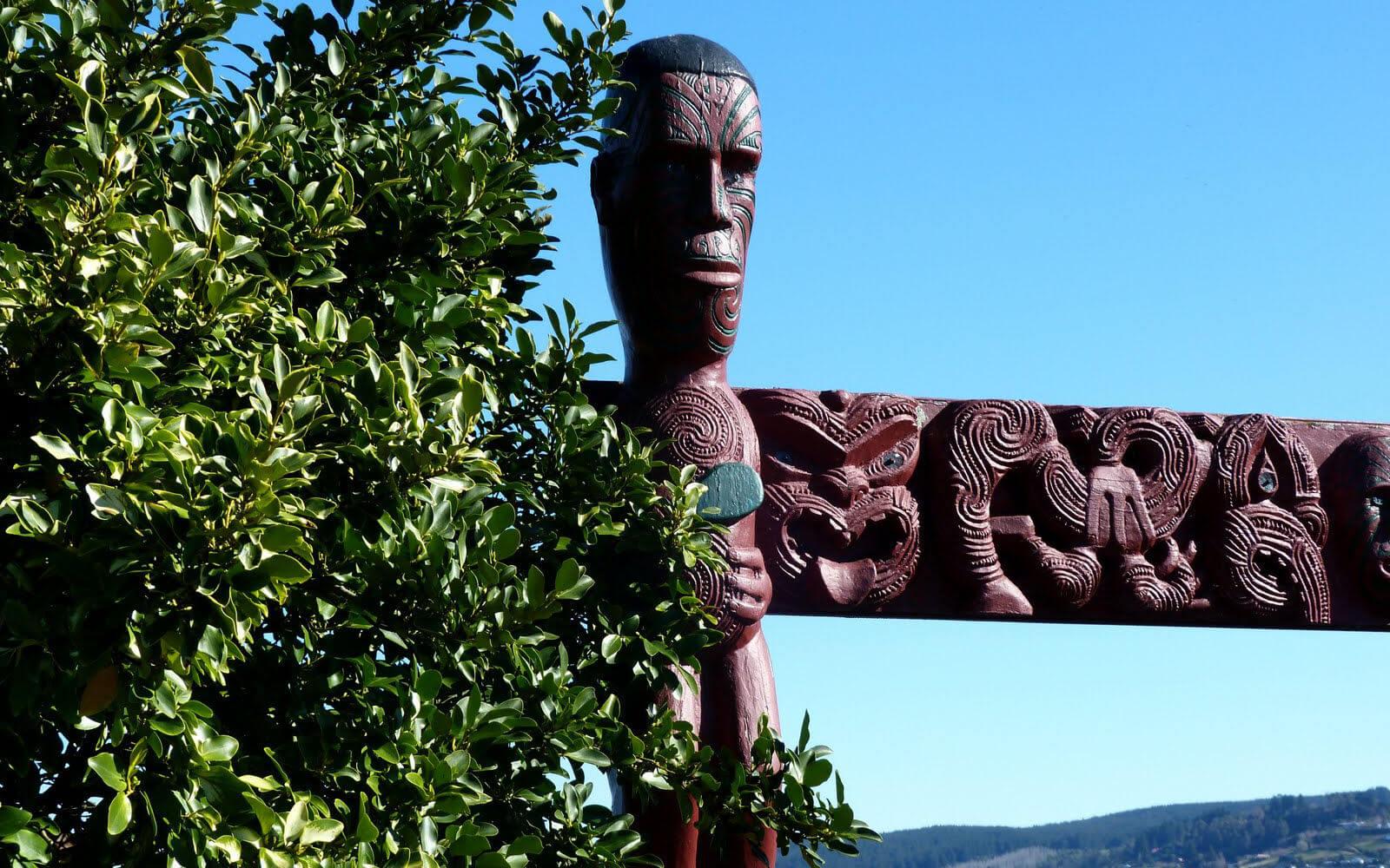 Maori-Statur in Neuseeland