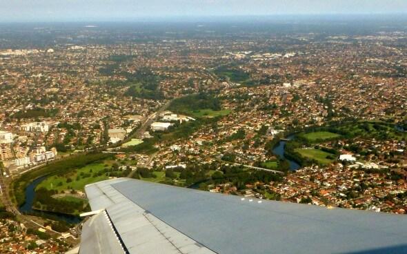 High School Australien - Cairns aus dem Flugzeug