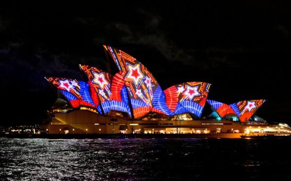 Sydneys Opera House im Licht
