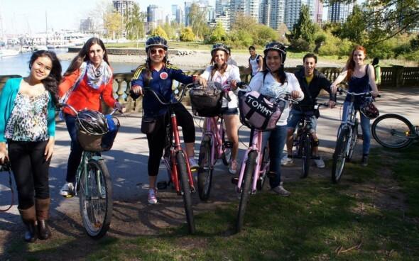 Auslandspraktikum in Kanada: Fahrrad fahren im Stanley Park