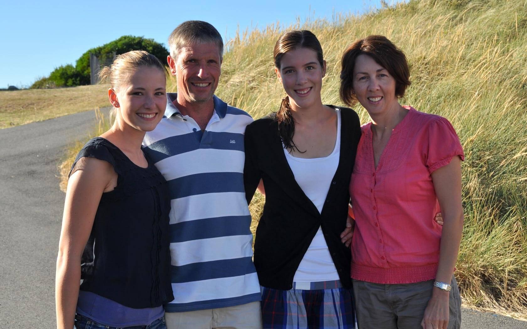 High School Schülerin mit Gastfamilie