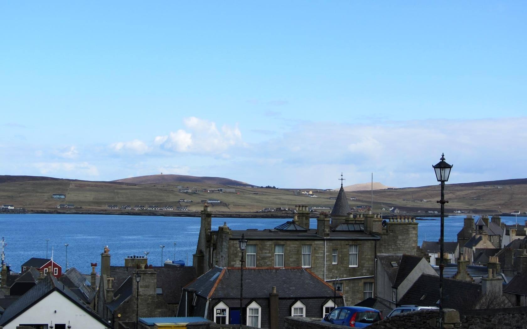 Shetland Reisebericht: Ausblick auf Lerwick
