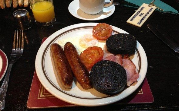 Shetland Reisebericht: traditionelles Frühstück