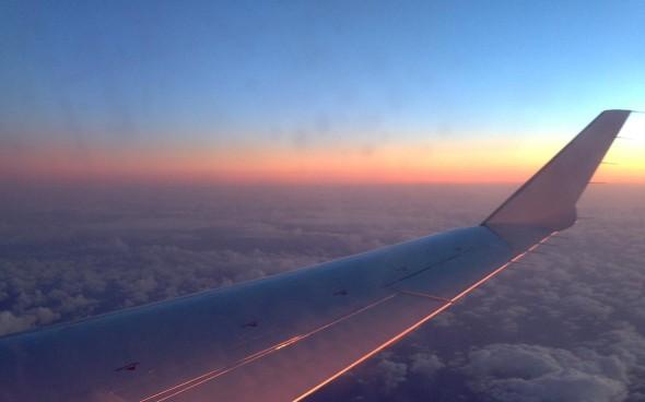 Shetland Reisebericht: Foto aus dem Flugzeug beim Rückflug