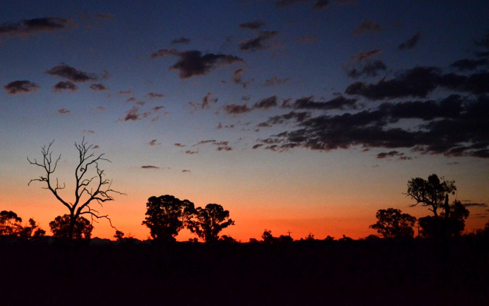 Das Outback bei Nacht