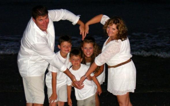 Mit der Gastfamilie am Strand