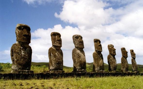 Die Moai-Statuen auf den Osterinseln