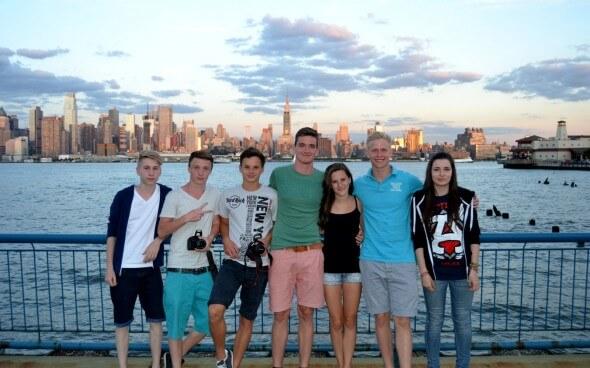 High School USA: Malte mit seinen neuen Freunden