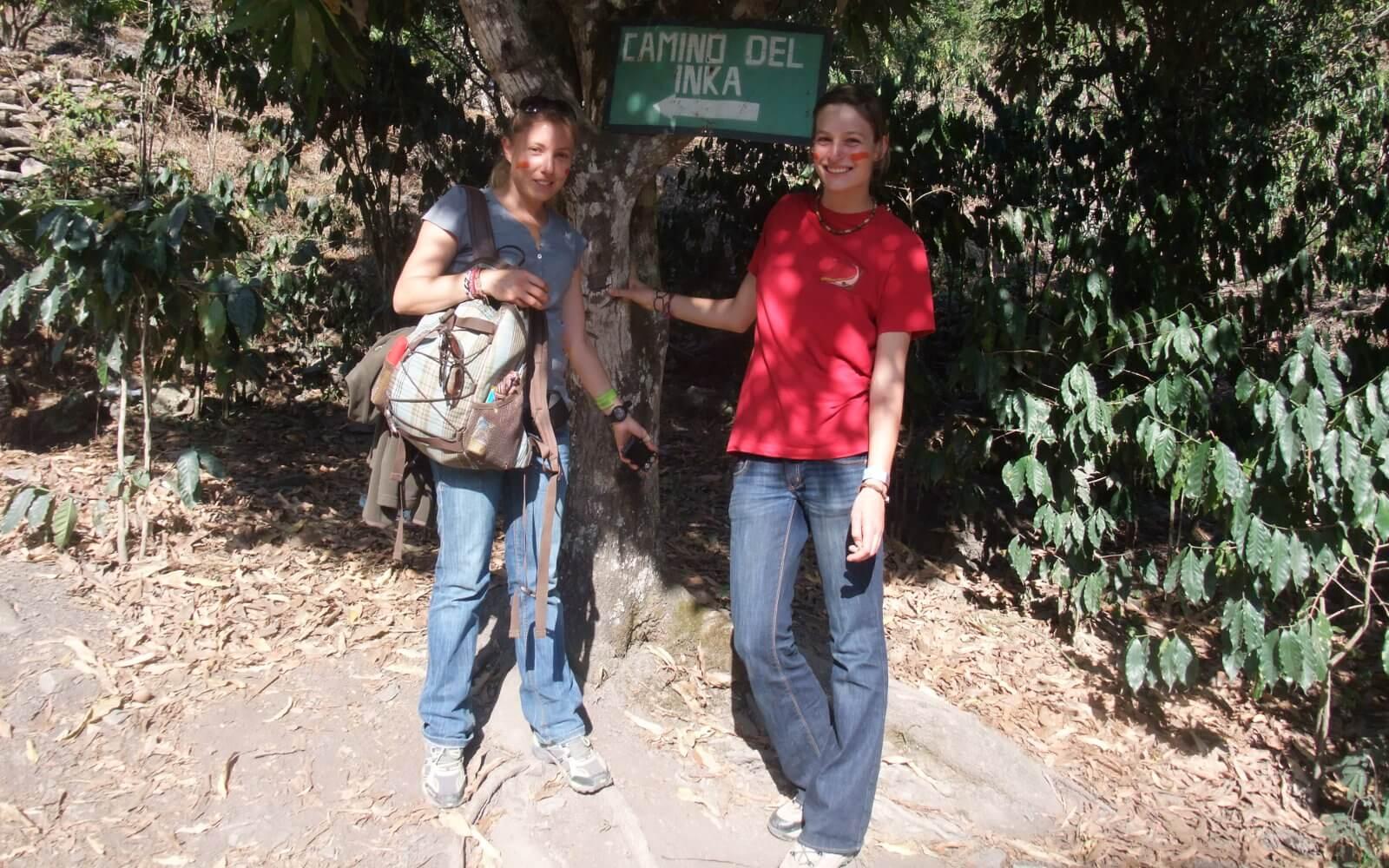Katrin auf dem Inka Trail in Peru