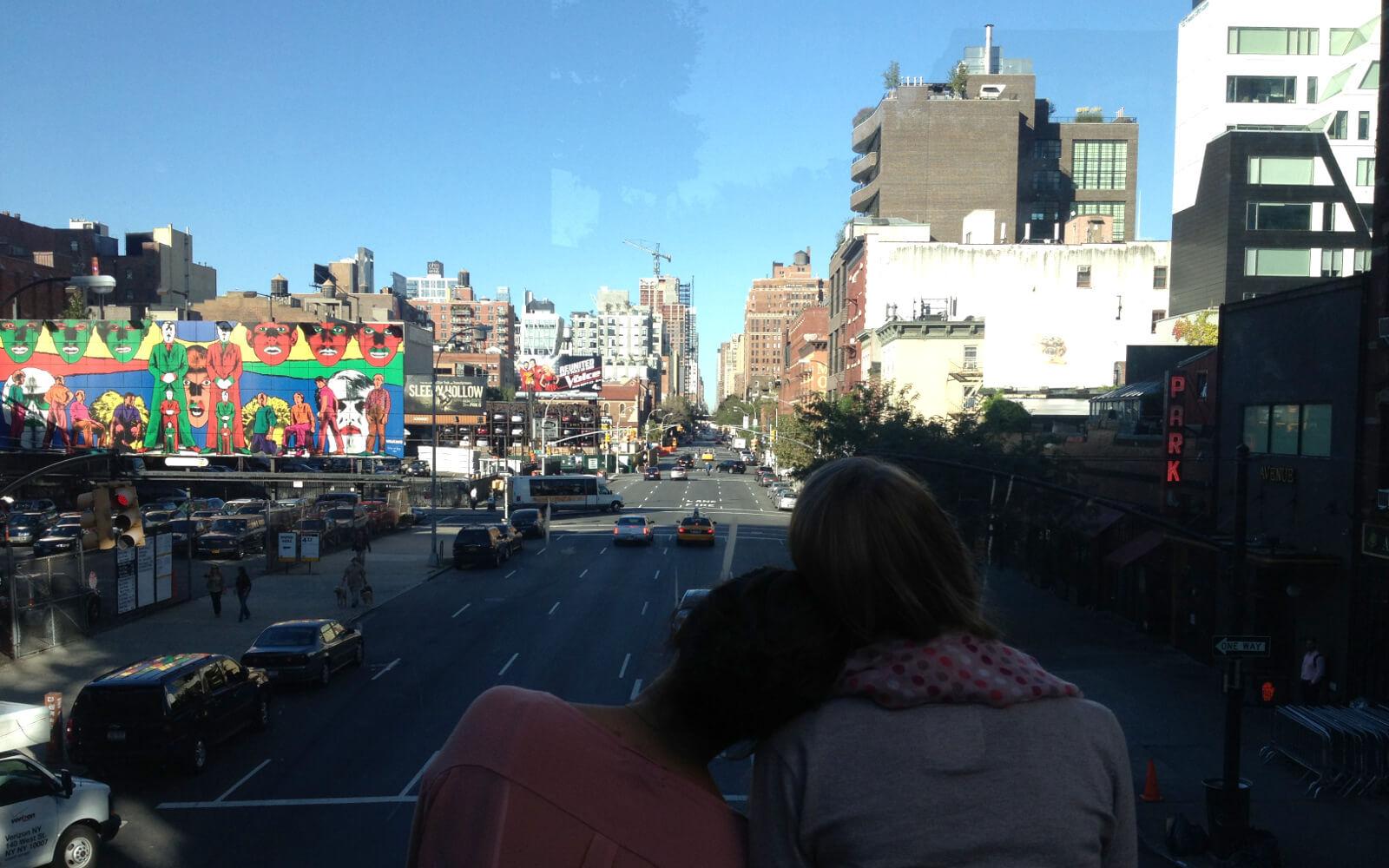 Au-pair USA: Leonie mit ihrer Freundin Verena auf der High Line