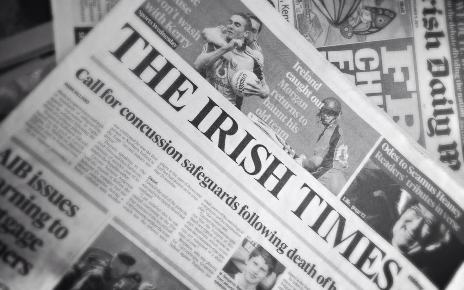 Titelblatt der Irish Times