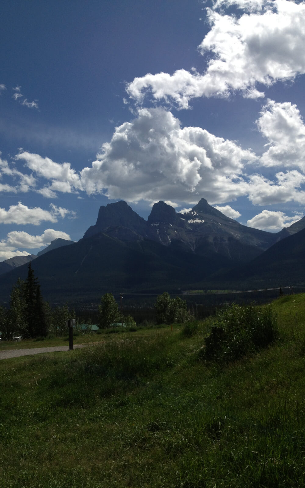 Blick auf ein kanadisches Gebirge