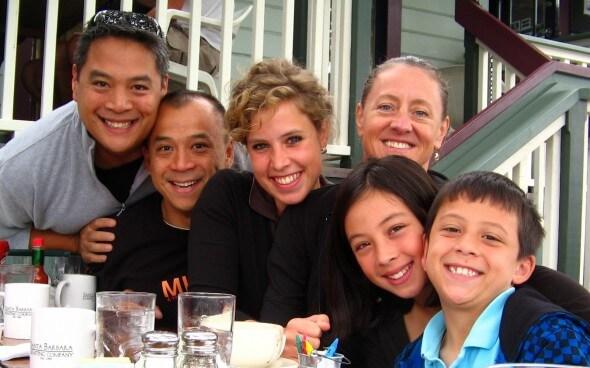 Ein großes Gastfamilienbild