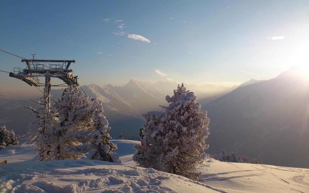 Skigebiet in Neuseeland