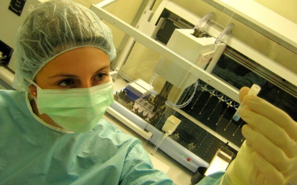 Arbeiten im Ausland: Arbeit im Labor