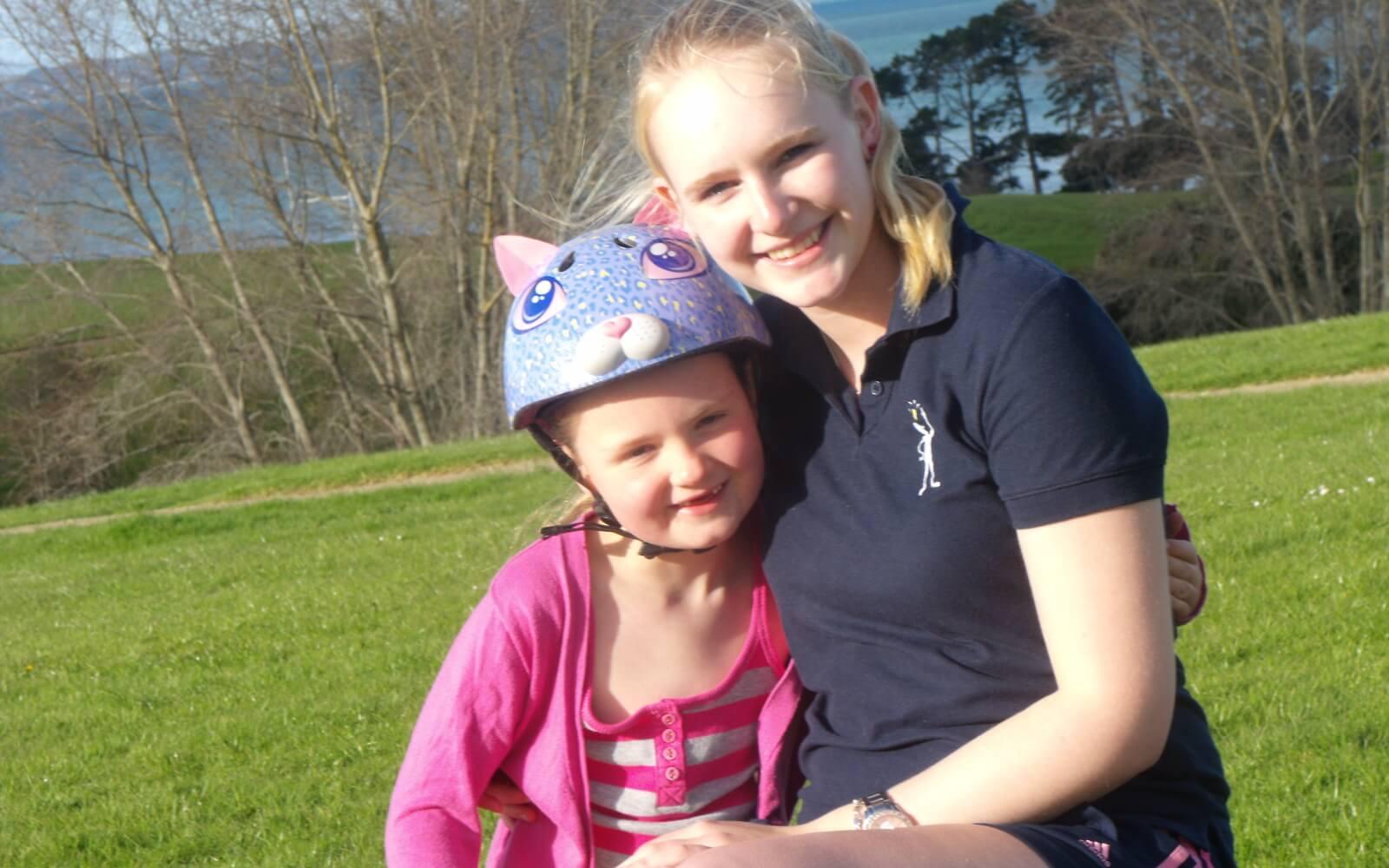 Demi-pair Auckland: Daniela mit einer der beiden Töchter