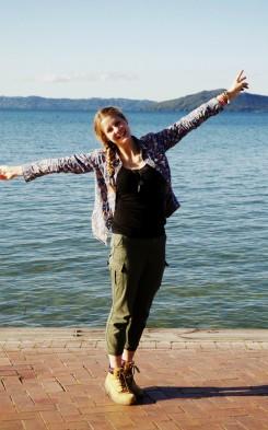 Linda am Lake Rotorua