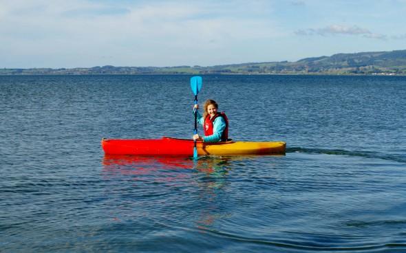 Auslandsjahr Neuseeland: Linda im Kajak