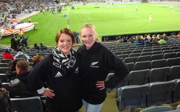 Demi-pair Auckland: Beim Rugby-Spiel der All Blacks