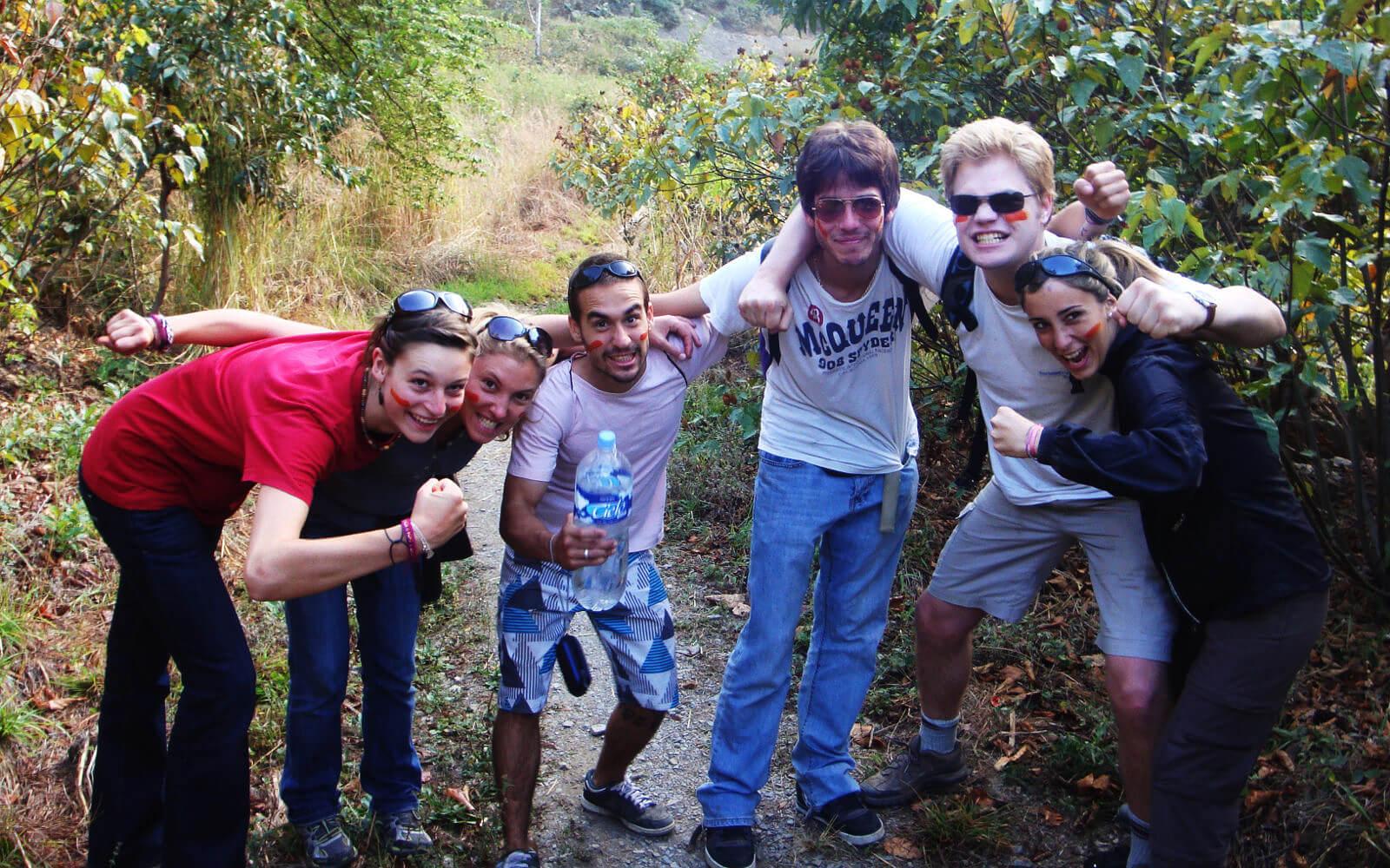 Katrin in Peru mit anderen Freiwilligen