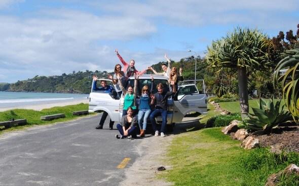 Demi-pair Auckland: Ein Gruppenausflug mit dem Mietwagen