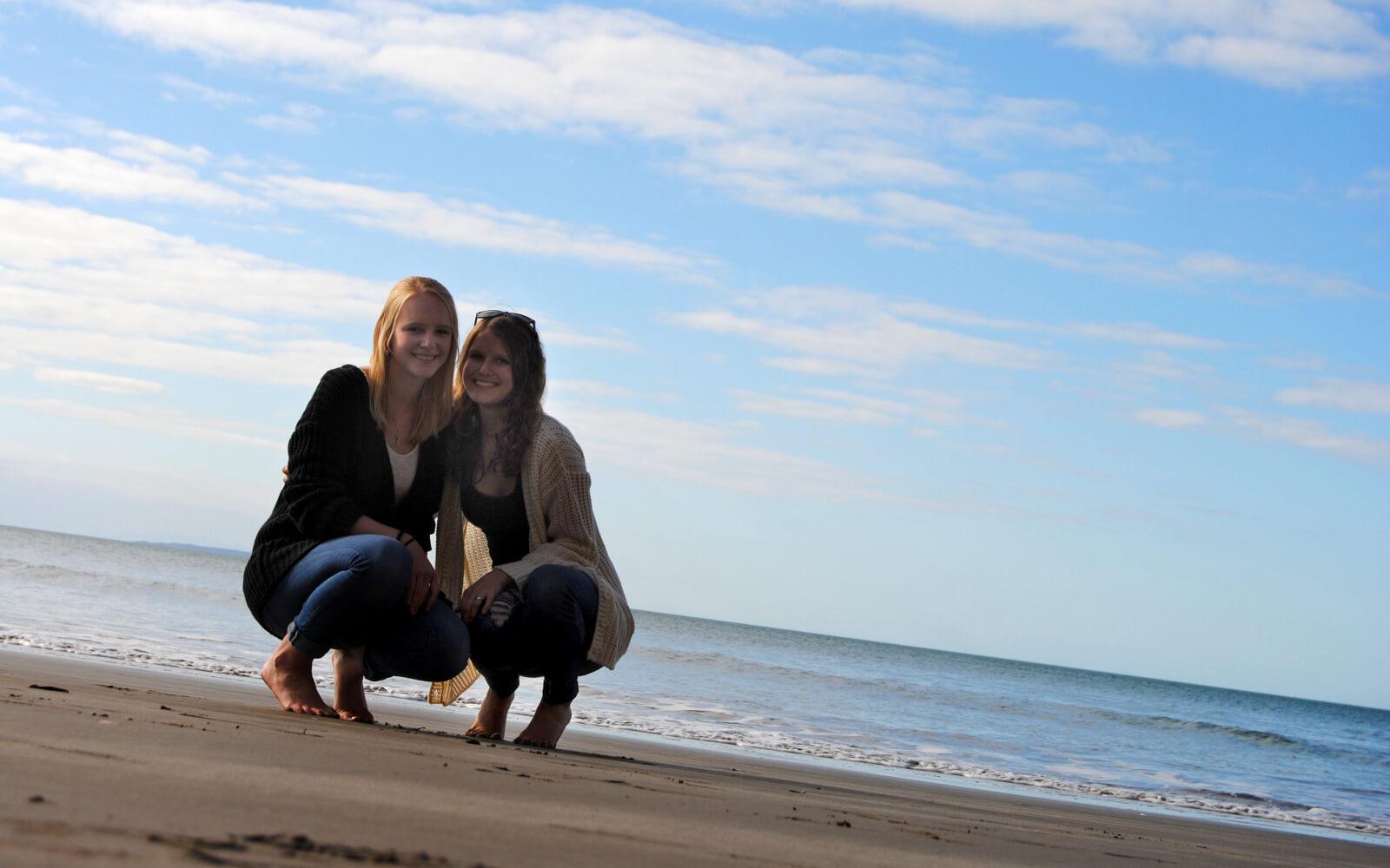 Posen am Strand