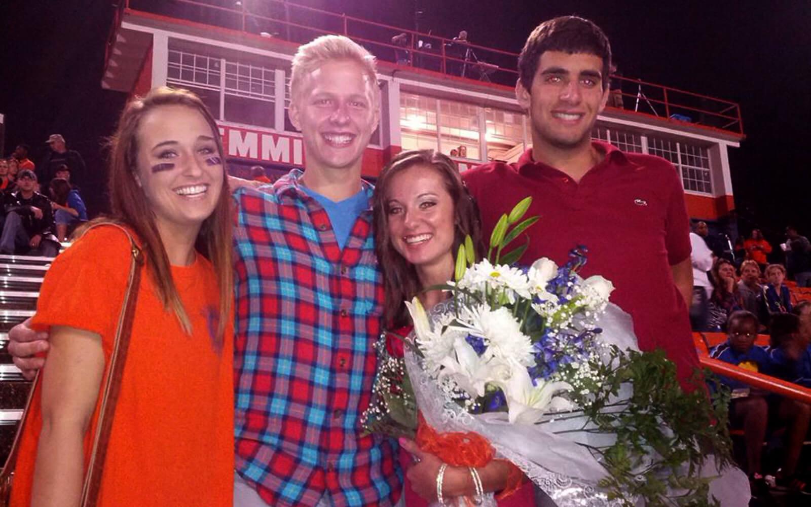 Malte und seine Freunde beim Homecoming Game