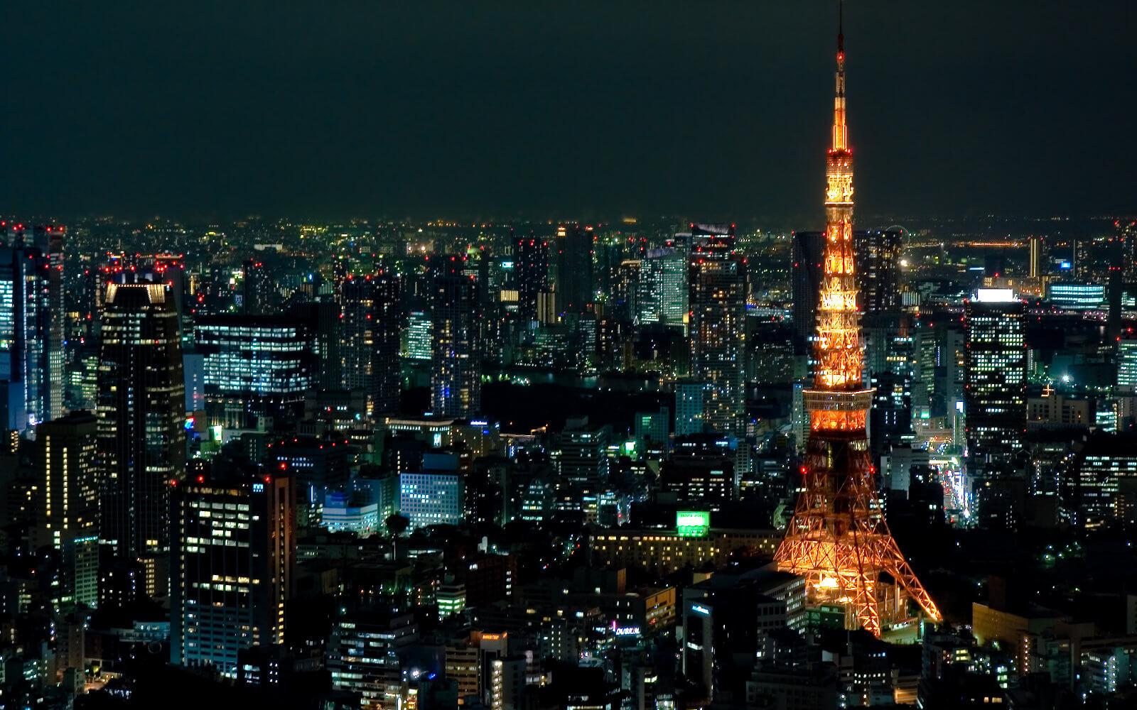 Silvester feiern in Übersee: Tokyo bei Nacht