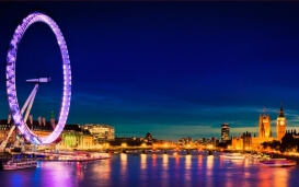London: Themse und London Eye