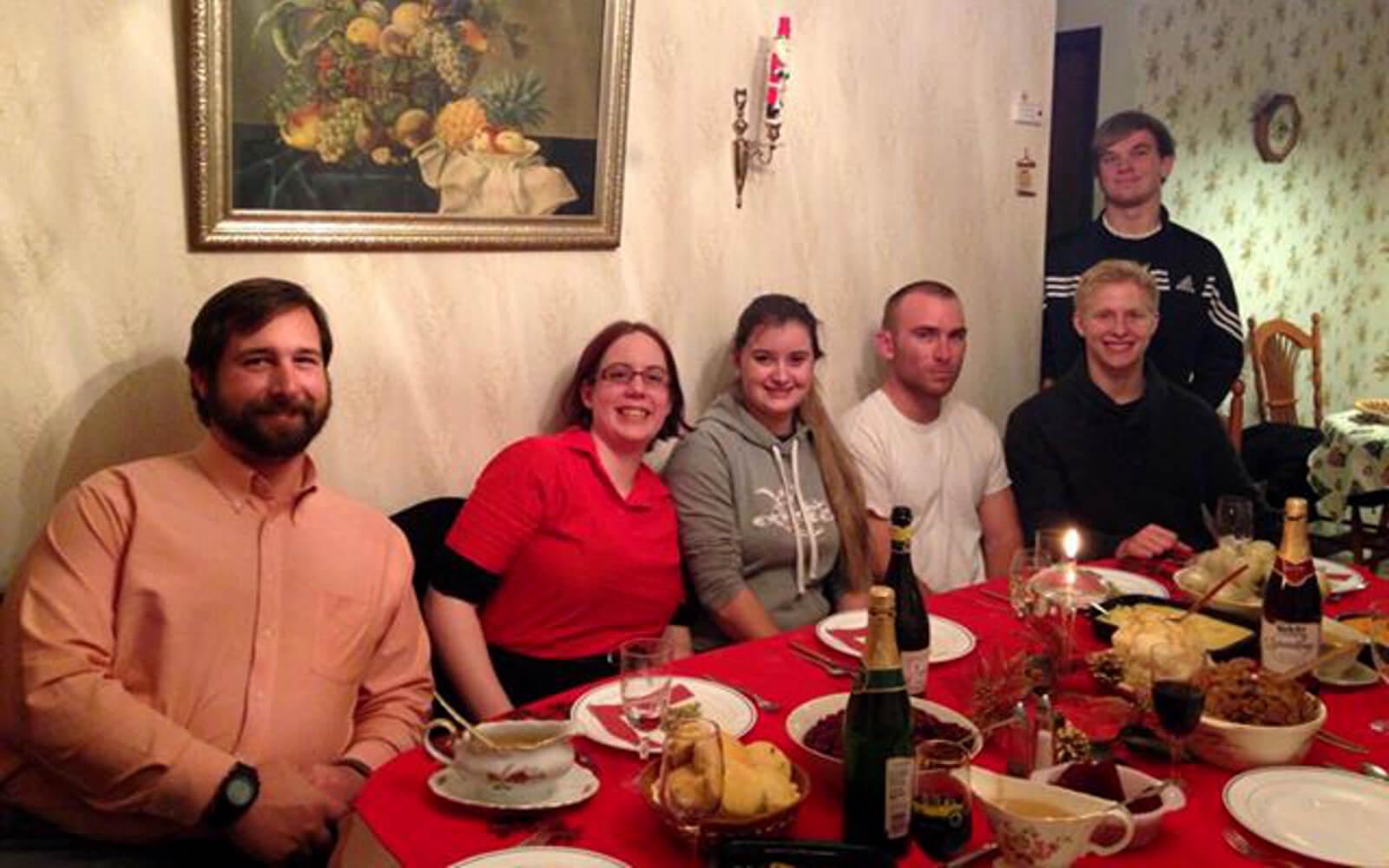 Christmas dinner mit der Großfamilie