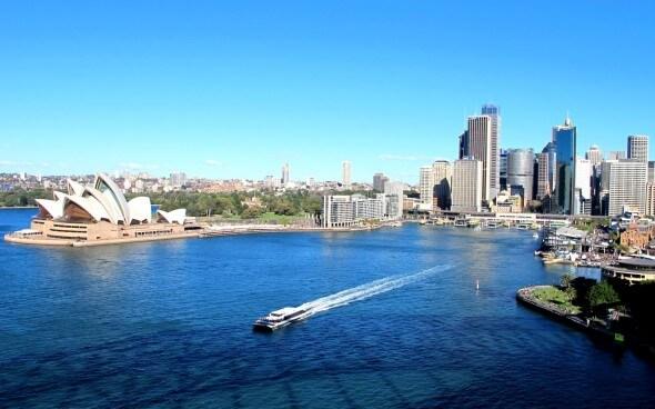 Anna entdeckt Australien: Aussicht auf Sydney von der Harbour Bridge