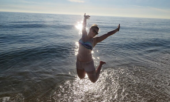 Magdalena in den USA: California Strand