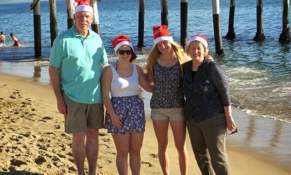Magdalena in den USA: Familie an Weihnachten