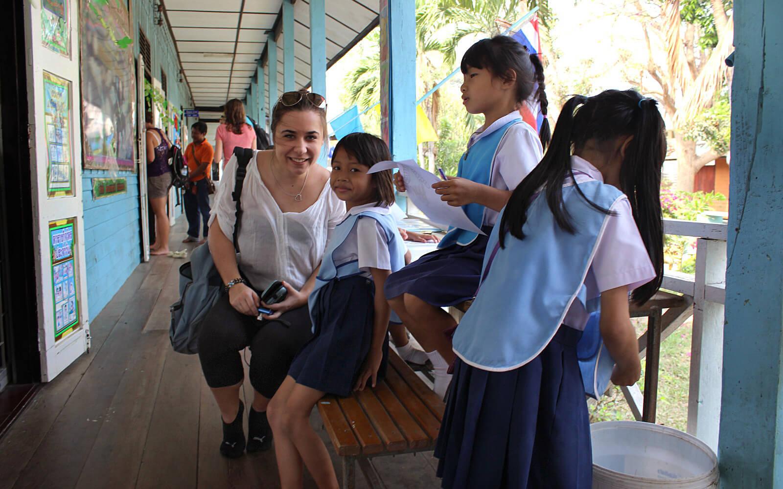 Malina und ein paar Schüler