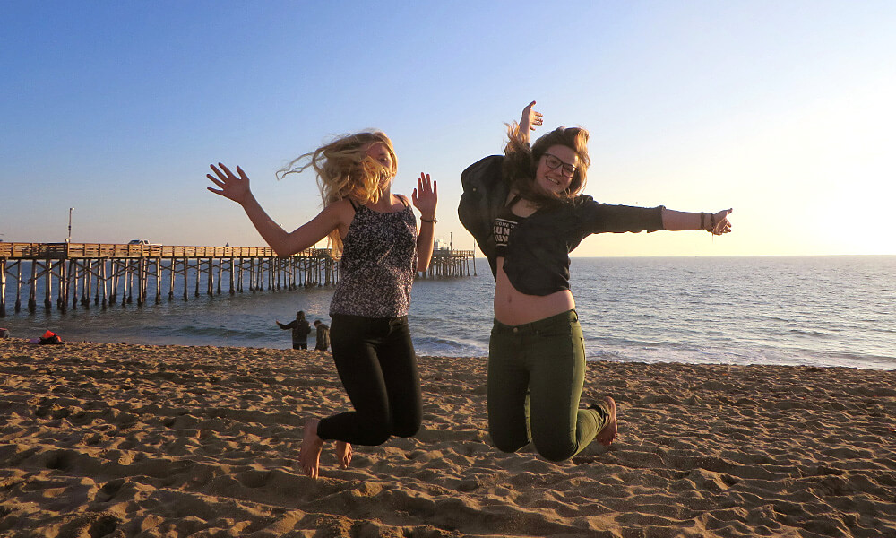 Magdalena in den USA: mit Gastschwester Anna