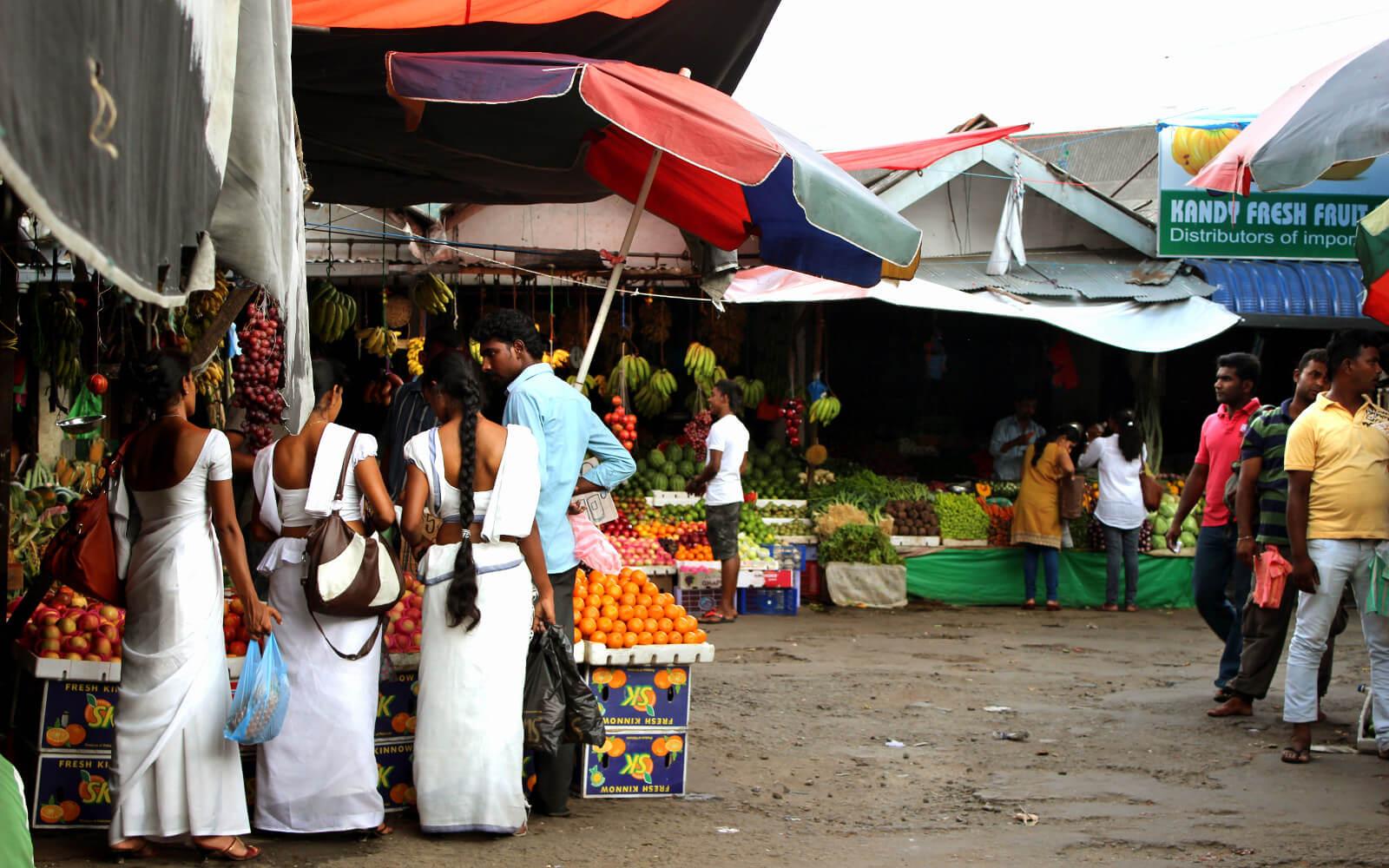 Markt auf Sri Lanka