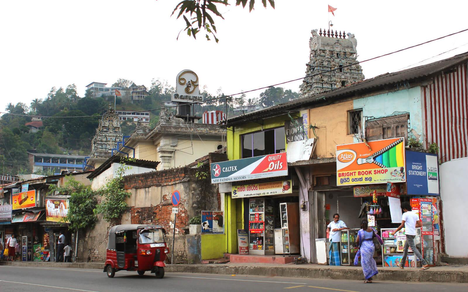 Tuktuk auf Sri Lankas Straßen