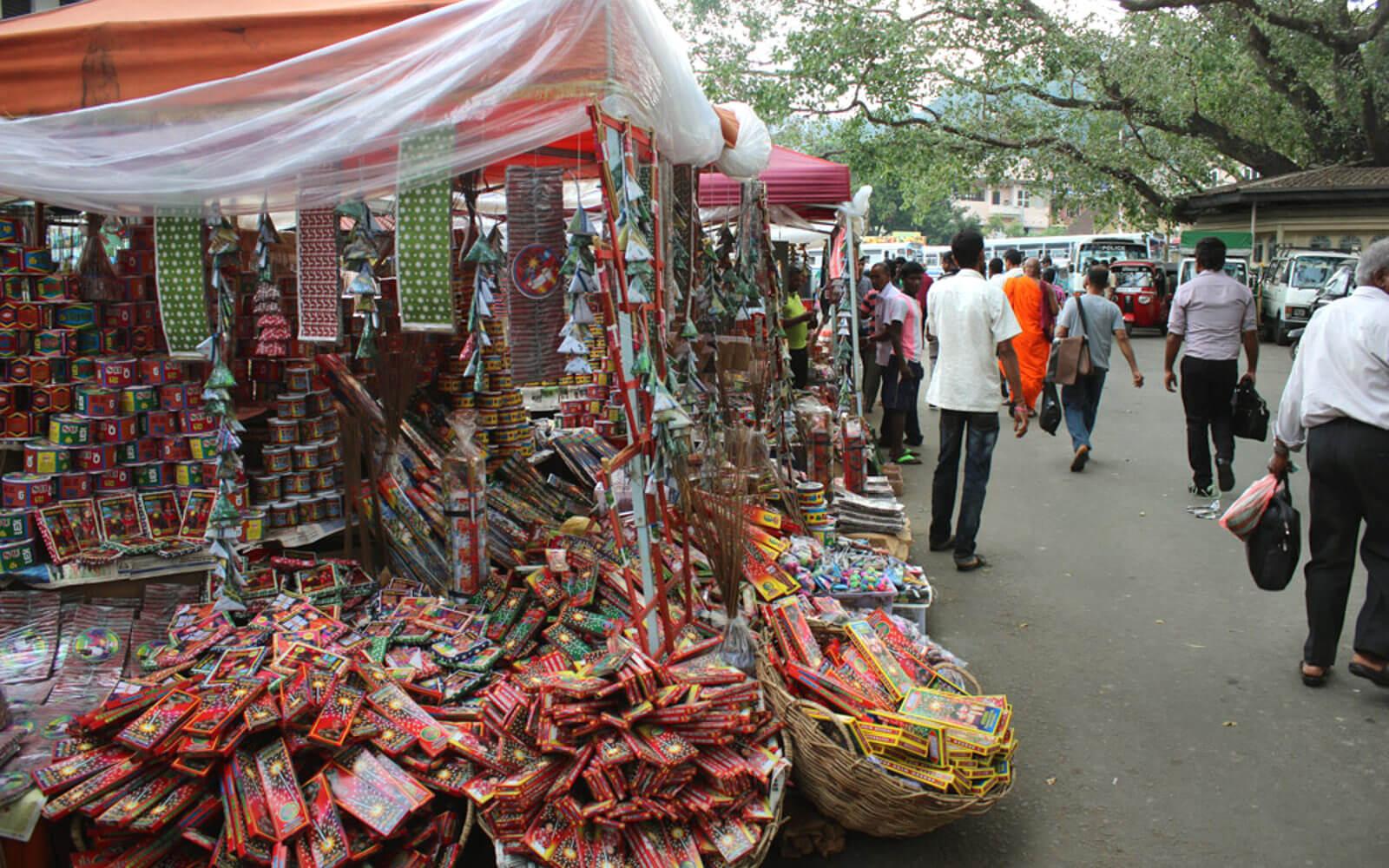 Marktstand in Sri Lanka