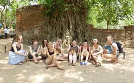 Gruppe in Ayutthaya