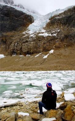 Hotelarbeit in Kanada: Ljubisa am Gletscher