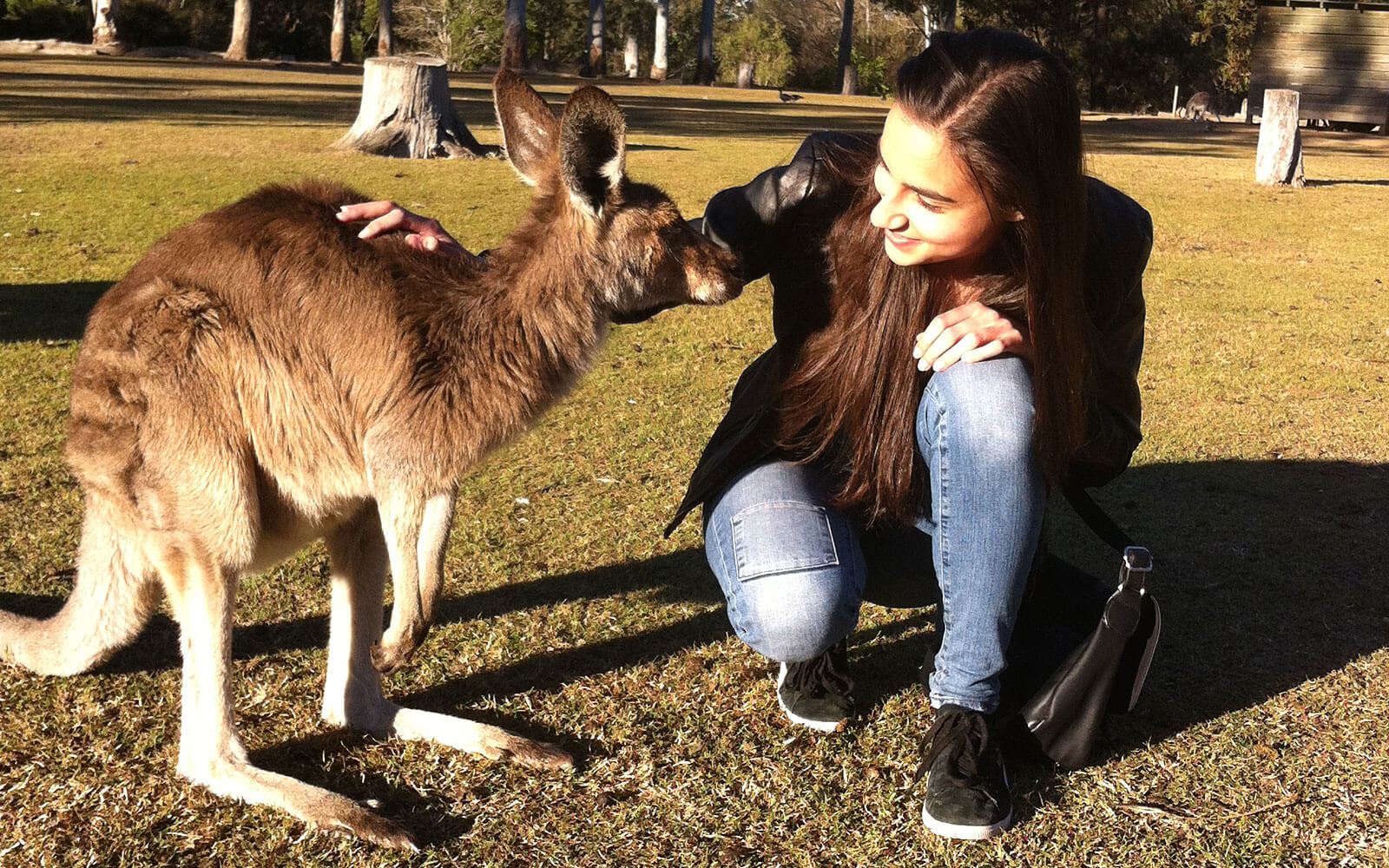 Vincenza mit Känguruh
