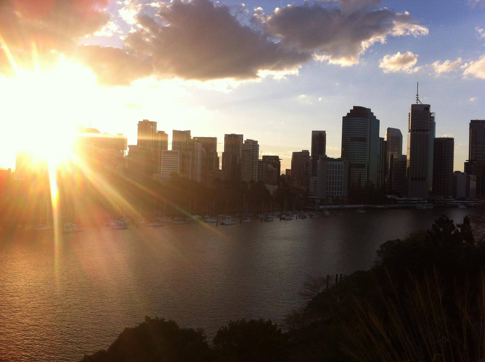 Sonnenuntergang in Brisbane