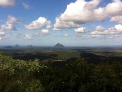 Glasshouse Mountains in Queensland