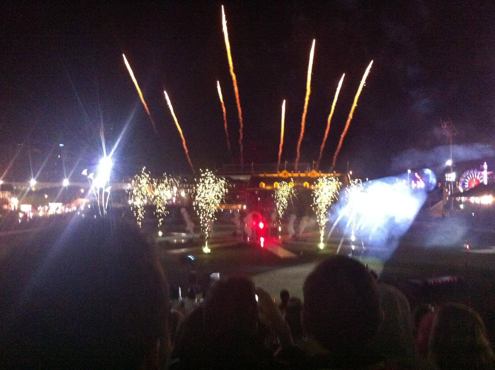 Feuerwerk in Brisbane