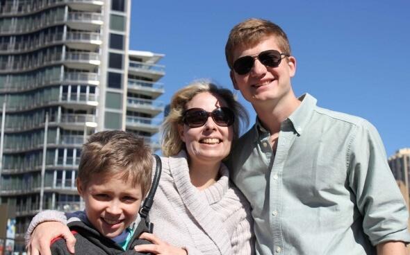sebastian-in-australien mit seiner hostfamily